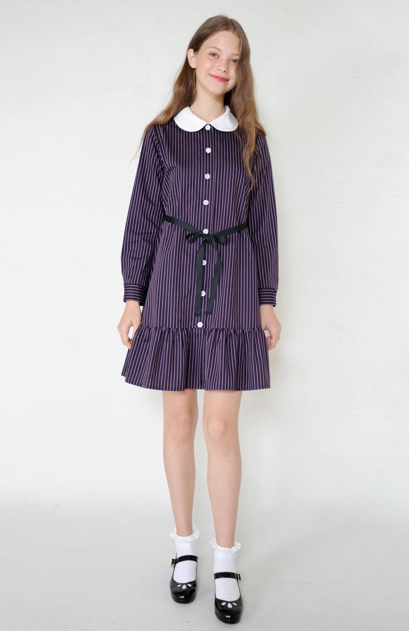 Betty ストライプシャツ ワンピース